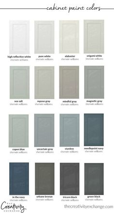 Home Remodeling Decor 30 beautiful cabinet paint colors for kitchens and baths. - We're sharing 30 beautiful cabinet paint colors for kitchens and baths that are some of the most versatile and dependable colors out there. Kitchen Paint Colors, Paint Colors For Home, House Colors, Colors For Kitchens, Small Kitchens, Best Color For Kitchen, Cabin Paint Colors, Best Bathroom Colors, Modern Paint Colors