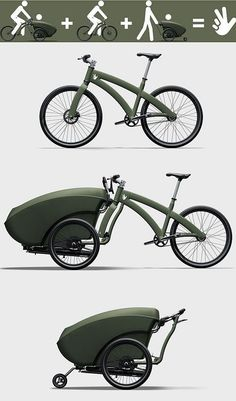 Fahrrad Design TrioBike, Vacuums Does More Power Mean a Better Clean Velo Design, Bicycle Design, Design Model, Tricycle, Custom Velo, Velo Cargo, Motorised Bike, Bike Trailer, Bike Reviews