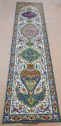 #Handmade_mosque_tile_manufacturer_in_Iran Islamic Art Pattern, Pattern Art, Exterior Design, Interior And Exterior, Tile Panels, Tile Manufacturers, Blue Tiles, Moroccan Tiles, Handmade Tiles