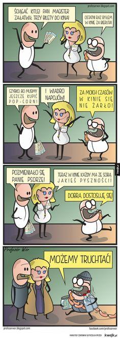 Pyszności w kinie Polish Memes, Owl House, Cartoons, Funny Memes, Lol, Humor, Cartoon, Cartoon Movies, Humour