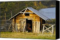 Landscapes Canvas Prints - The Old Barn Canvas Print by Heiko Koehrer-Wagner