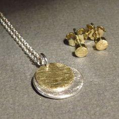 Ketten kurz - YOU & ME - Kette und Ohrstecker - Gold &amp... - ein Designerstück von FREUware bei DaWanda