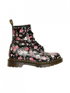74a02cde643 The perfect combination of strong and feminine.    Floral-Print Core  Leather Boots