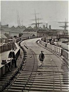 Southport, Railroad Tracks, Liverpool, Sidewalk, Construction, Building, Side Walkway, Walkway, Walkways