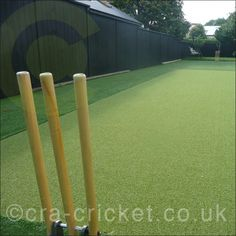 Residential constructions of non turf cricket pitches. Robust outdoor grade pitches for placement in gardens and recreational areas feature IBC padded composite matting and solid cement skimmed platform bases.  Bespoke sizes from 7.5m (L) to 30m. Single and multi lanes. Partial wickets and batting ends. Surround 14mm turf creates a complete batting area experience. Cages and nets can be intergrated within the build.