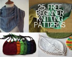 25 Free Beginner Knitting Patterns - need to learn crochet! Beginner Knitting Patterns, Knitting For Beginners, Loom Knitting, Knit Patterns, Free Knitting, Start Knitting, Easy Patterns, Knitting Stitches, Knitting Needles