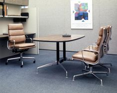 The Eames Soft Pad Chair has been a fixture of the office for 50 years. Although the office continues to change, the Eames Soft Pad Chair… Work Spaces, Chair Pads, Herman Miller, The Office, Eames, Home Furnishings, Change, Contemporary, Table