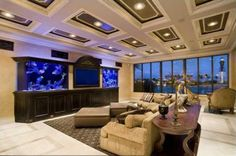 #Built in tropical fish tank Idea for the future, fresh water on one side, salt on the other? Put it in the living room on both sides of the tv.