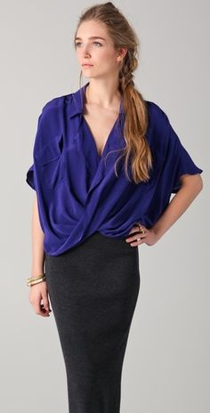 Work, drinks wit friends, or a date...I could use this blouse for just about anything. Blouse by Funktional