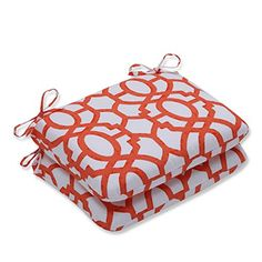 Pillow Perfect OutdoorIndoor Nunu Geo Mango Rounded Corners Seat Cushion Set of 2 *** This is an Amazon Associate's Pin. Detailed information can be found on Amazon website by clicking  the VISIT button.