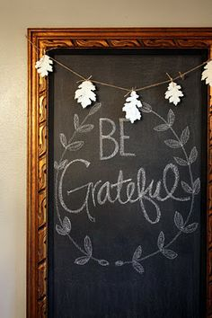 DIY:  Chalkboard Tutorial - made from a large,  unattractive oil painting & frame.#fall #chalkboard