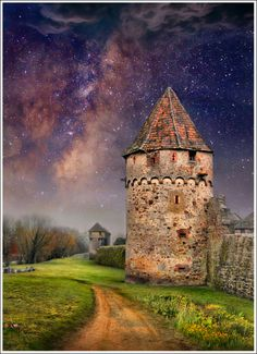"""The Two Towers"" Bergheim, France ♥ ♥ www.paintingyouwithwords.com"