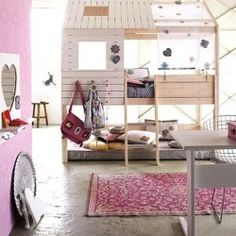 Really cool bunk bed for girls