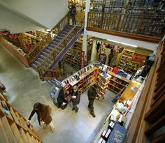 Powell's Bookstore, largest independent bookstore in the US. You can spend an entire day here!