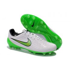 Buy Nike Magista Opus FG White Green Football Boots