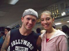With Travis Wall at home studio Denise Wall's Dance Energy (age 15)
