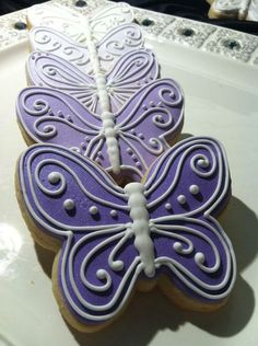 Ombre Butterfly Cookies :)