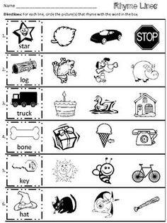 math worksheet : a dozen free rhyming words worksheets from printablekidstuff   : Rhyming Worksheet Kindergarten