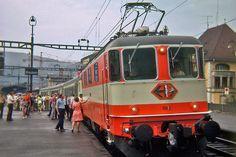 SBB CFF FFS, schweizerische bundesbahnen Locomotive, Train Suisse, Swiss Railways, Vintage Poster, Switzerland, Transportation, Archive, Europe, History
