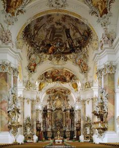 Baroque Architecture Interior Of The Church To The Holy Trinity