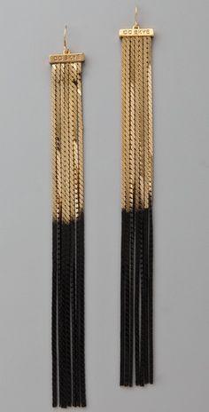#black #gold #earrings