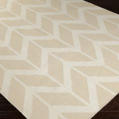 Jill Rosenwald by Surya Fallon Arrows Winter White/Sand Hand Woven Rug @Zinc_Door