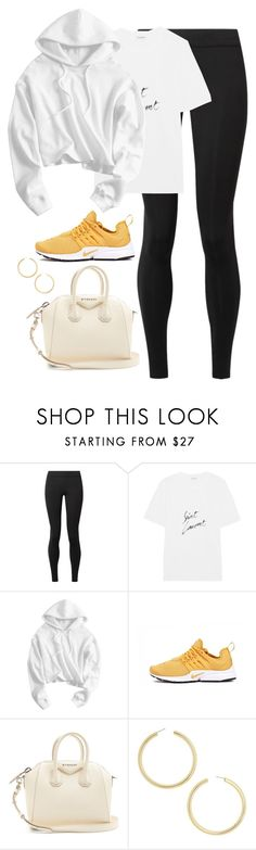 """Untitled #4653"" by magsmccray ❤ liked on Polyvore featuring The Row, Yves Saint Laurent, Presto, Givenchy and BaubleBar"