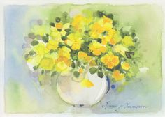 Yellow Flowers in a Vase | by FloridaGirl46