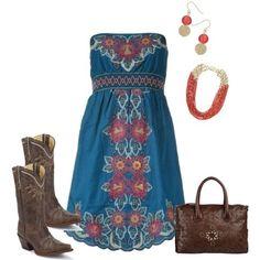 Φανταστικό φόρεμα όμορφα αξεσουάρ...τις μπότες τις θεωρώ βαριές για καλοκαίρι!
