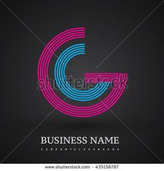 Letter GG linked logo design circle G shape. Elegant red and blue colored letter symbol. Vector logo design template elements for company identity. - stock vector