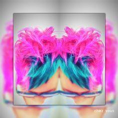 Block Hair Color   Neon Hair