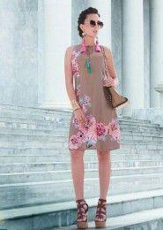 Party Wear Georgette Grey Printed Tops