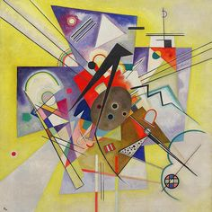 Vasily Kandinsky 1866-1944 // Yellow Accompaniment (Gelbe Begleitung) / 1924 / Oil on canvas / www.bauhaus-movement.com