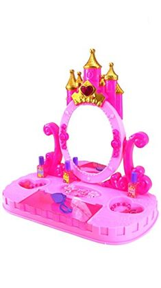 Princess castle tabletop mirror vanity play set with lights and sounds * Check out this great product.