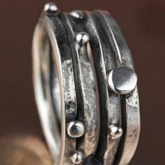 Silver ring KATA202A by ALEXREDONDOJOYAS on Etsy
