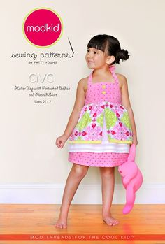 ModKid - Ava Halter Top with Pintucked Bodice and Pleated Skirt