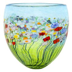 """Meadow Tall Bowl,: by Robert Held. Inspired by lush meadows and the emergence of spring blossoms."