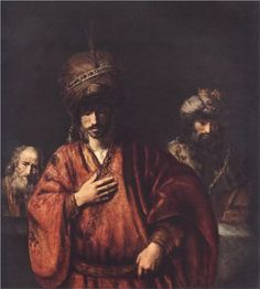 David and Uriah - Rembrandt