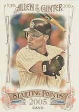 2015 Topps Allen Ginter Starting Points #SP-77 Robinson Cano - New York Yankees