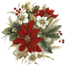 Картинки по запросу vintage christmas flowers