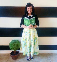 Floral Midi Skirt Mini Skirt or Maxi Ball skirt  by SandeeRoyalty, $70.00