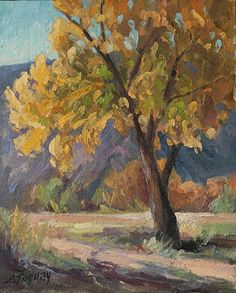 Brilliant light, Taos, NM by Susan Fuquay Oil ~ 10 x 8