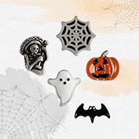 South Hill Designs - Spooky Charms  Please LIKE my page on Facebook for other… Create Your Own Story, South Hill Designs, Kawaii Crafts, Cute Ghost, Charm Pack, Halloween Design, Clay Charms, Trick Or Treat, Create Yourself
