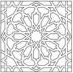Moorish Knot | Patterns | Handpainted Cuerda Seca Recycled Ceramic Tile | Fireclay Tile