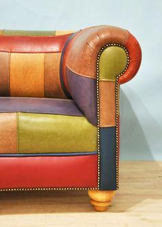 patchwork leather sofa | furniture + home decor