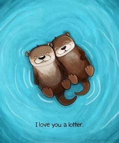 Just a an otter and his sweet heart 😊💙😊💗 Cute I Love You, Otter Facts, Otter Puns, Hold Hands, Holding Hands Quotes, Sea Otters Holding Hands, Drifting Apart Quotes, I Love You Pictures, Cute Pictures