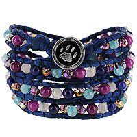 Wakami Paw Print Beaded Wrap Bracelet at The Animal Rescue Site