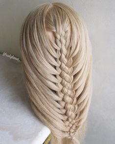 braidsglamourFive strand mermaid braid