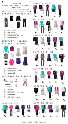 Pin to see if Laura finds this helpful. This checklist is a good template for a basic starter work wardrobe. (Even though I created this for...