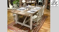 Country casual dining rooms- red and white rug underneath Willow Furniture, Dining Room Furniture, Dining Room Table, Kitchen Dining, Dining Chairs, Casual Dining Rooms, Country Dining Rooms, Country Living, Siena
